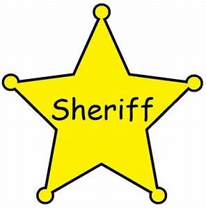 Sheriff badge clipart - Clipground
