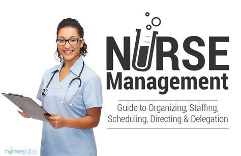 nursing management organizing staffing scheduling