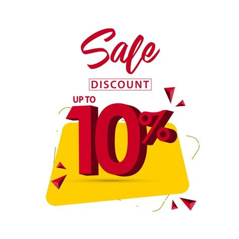 Sale Discount Up To 10 Vector Template Design Illustration ...
