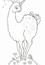 Llama Coloring Pages Alpaca Cartoon Llamas Drawing Bohemian Peru Mama Animal Getdrawings Printable Getcolorings Sketch Template sketch template