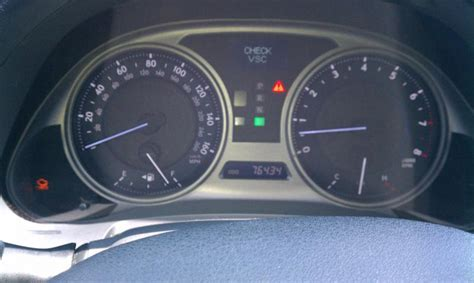 lexus check engine light check engine check vsc after recall club lexus forums