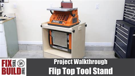 flip top tool stand  planer spindle sander diy
