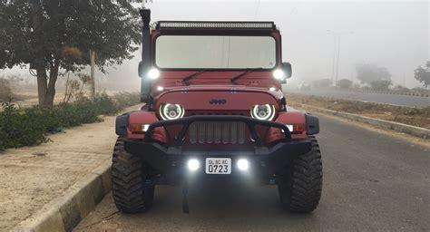 mahindra jeep 2016 mahindra thar azad front indian autos blog