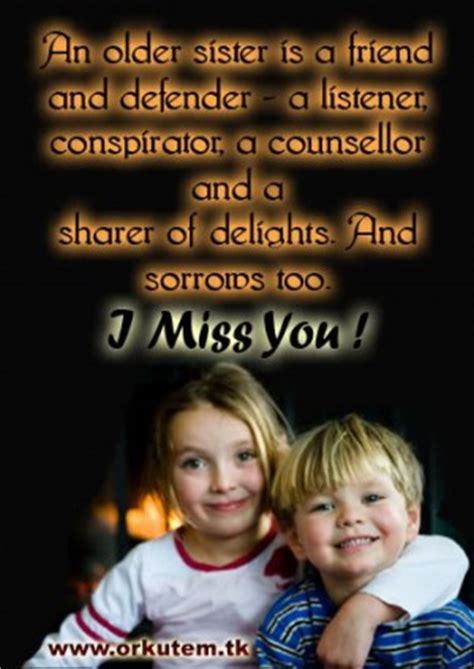 Miss You Sister Quotes Sayings