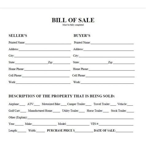 bill of sale form texas pdf printable car bill of sale pdf bill of sale west texas