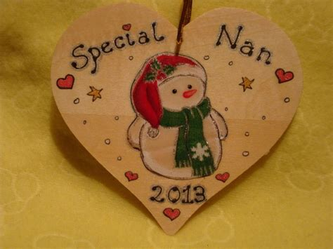 Christmas Tree Snowman Wooden Heart Tree Hanger Or Wall