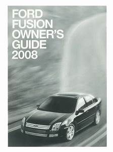 2008 Ford Fusion Owners Manual User Guide Reference