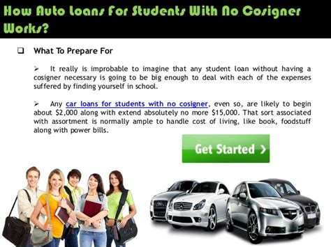 Getting Student Car Loans Without Cosigner