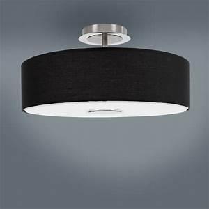 Deckenleuchte Stoff Rund : deckenleuchte wohnzimmer esszimmer lampe leuchte stoff ~ Indierocktalk.com Haus und Dekorationen