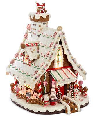 kurt adler lighted gingerbread house holiday lane   home macys