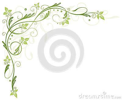 Blumenranke Grün Horizontal by Leaves Tendril Royalty Free Stock Photography