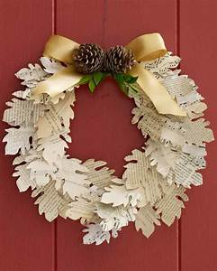 paper leaf wreath martha stewart With martha stewart leaf template