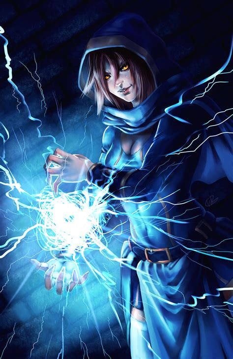 ariela the lightning mage by will2link on