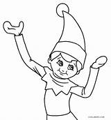 Elf Coloring Pages Printable Christmas Print Pdf Cool2bkids sketch template