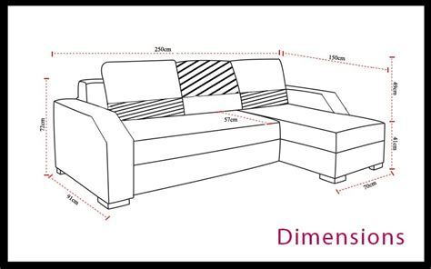 dimensions canap canape lit d angle 4 dimensions canap233 dangle