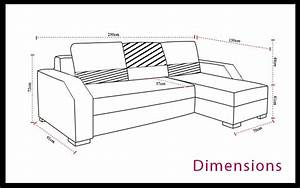 dimensions canape d39angle convertible With dimension canapé d angle standard