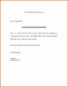 salary confirmation letter from employer 6 salary proof letter template salary slip