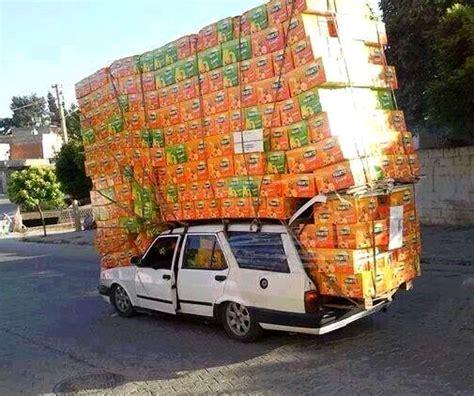 Image result for crazy car loads