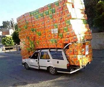 Image result for crazy car loads