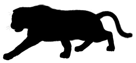 onlinelabels clip art furry panther silhouette