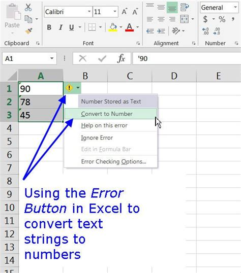 Text String Definition and Use in Excel