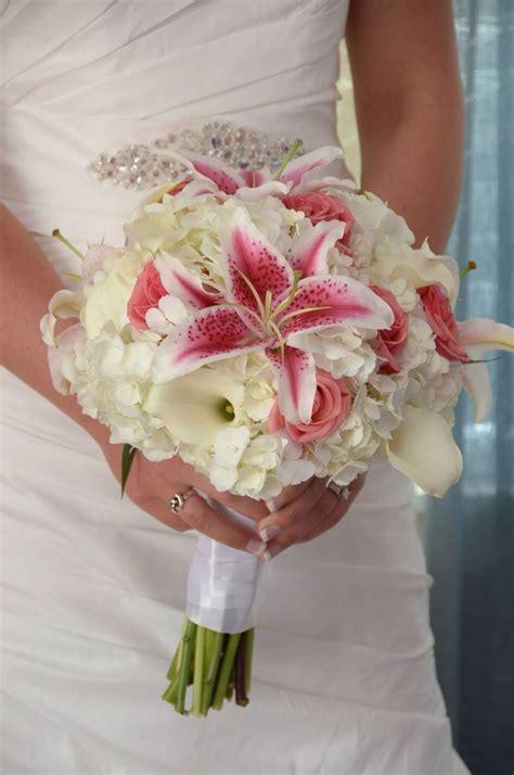White Hydrangea White Calla Lilies Stargazer Lilies