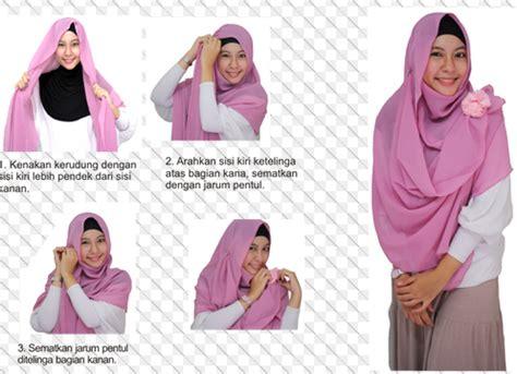 memakai jilbab pashmina tetap bersyariat kumpulan contoh kreasi hijab modern terbaru
