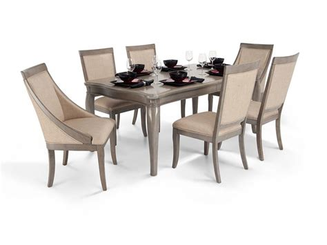 Discount Dining Room Chairs by Gatsby 7 Dining Set With Side Chairs Swoop Chairs