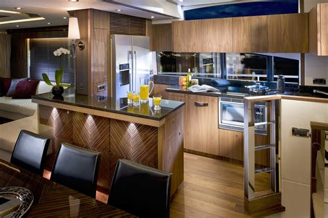 boat galley kitchen designs sunseeker yacht manhattan 73 galley yacht charter 4853