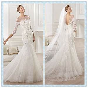 lace wedding gowns 2014 2014 new designer wedding dress l With long sleeve wedding dresses designer