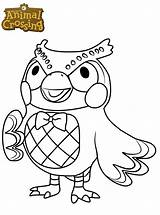 Crossing Coloring Animal Blathers Coloriage Character Owl Printable Dessin Kleurplaat Imprimer Bubakids Cartoon Characters Fun Animalcrossing Jecolorie Kleurplaten Nieuwe Animals sketch template