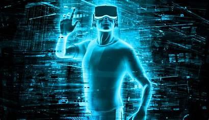 Virtual Reality Technology Resolution Background 4k Tech