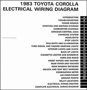 1983 Toyota Corolla Wiring Diagram Manual Original