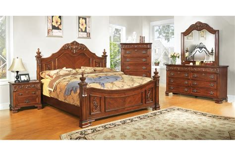 bedroom sets linden place cherry king size bedroom set
