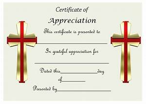 50 professional free certificate of appreciation templates for every need demplates for Church certificate of appreciation