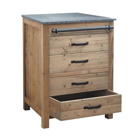 meuble de cuisine ind駱endant meuble bas de cuisine en bois recycl 233 l 70 cm pagnol