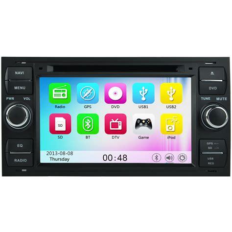 ford focus mk2 transit mk7 hd stereo gps sat nav bluetooth ipod radio