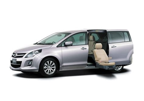 mpv car mazda mpv second row lift up seat japan picture number
