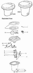 Thetford Aqua Magic Iv Toilet Flush Lever Assembly 24629