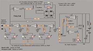 Simple Transistor Tester Circuit