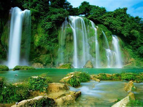 ba  lake ban gioc detian falls vietnam  china hd