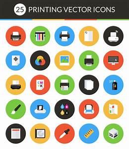 Freebie Vector Print Icon Set