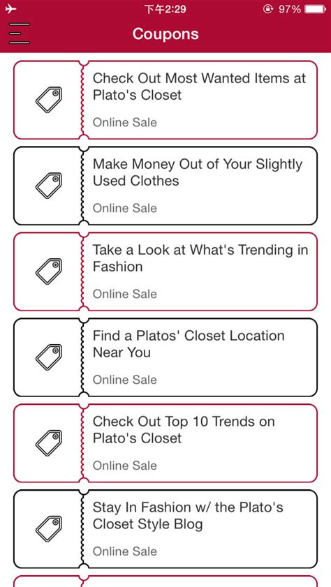 app shopper coupons for plato s closet shopping