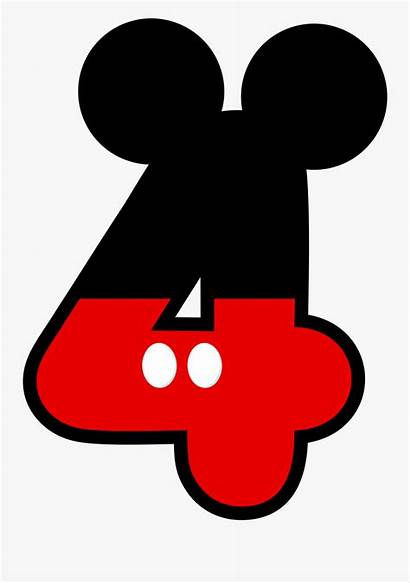 Mickey Mouse Numbers Clipart Numero Birthday 4th