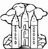 Lds Mormon Temples Templos Coloringhome Sketchite sketch template