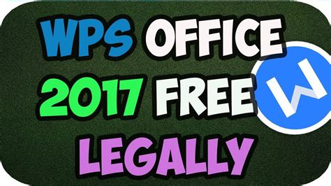 Wps Office 2017 Premium Free ⭐legally⭐
