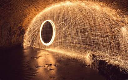 Wallpapers Fireworks Tunnel Sparks Fire Circle Stunning
