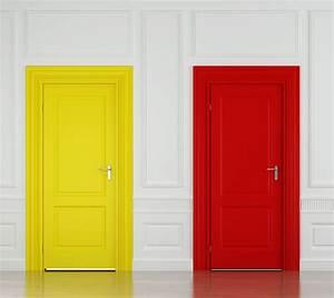 peindre porte interieure 2 couleurs evtod With peindre un encadrement de porte