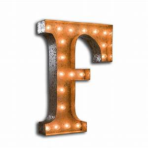 f vintage letter light with bulbs With vintage letter lights