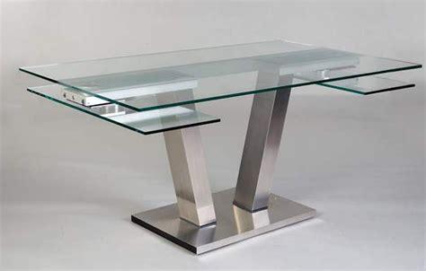 table cuisine verre trempé table repas design verre extensible vinci eda concept